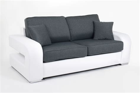 canapé couchage permanent canape convertible couchage 140 cm alban wilma blanc