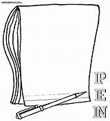 Pen Coloring Pages Notebook Colouring Colorings Print Coloringway sketch template
