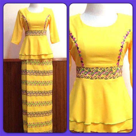 myanmar fashion dress  women  styles