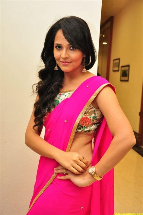 Anasuya Hot Photos In Pink Saree Actress Album