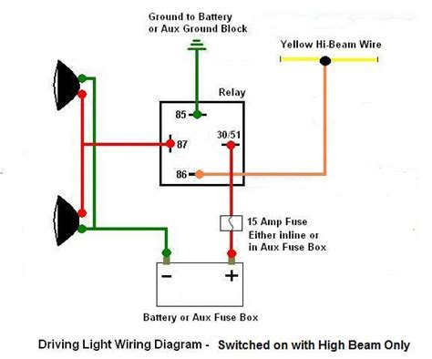 Driving Light Wiring With Auto Beam
