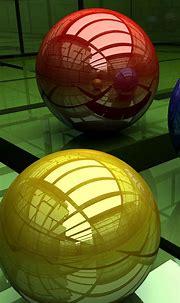 3D Balls Three-Colored Surface Cubic HD Wallpaper - 1080x1920