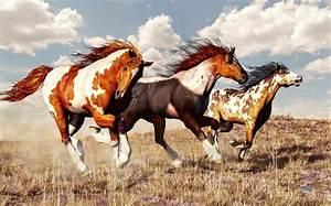 Galloping Mustangs Digital Art by Daniel Eskridge