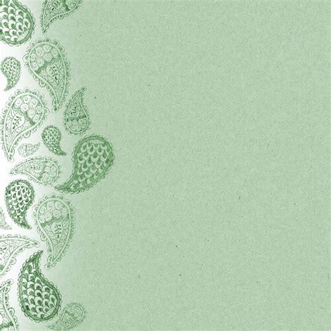 scrapbook paper design  green paisley  printable