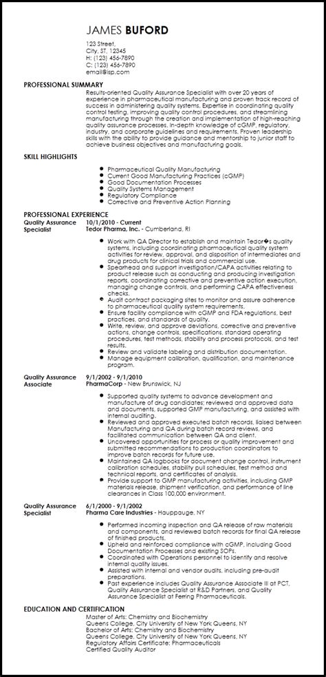 quality assurance pharma 3 resume format resume format resume templates resume summary