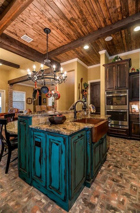 turquoise kitchen island tuscan design turquoise distressed island with granite 2969