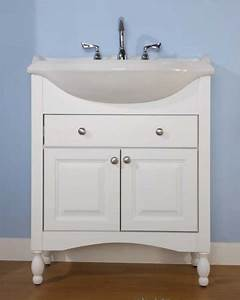 34 inch single sink narrow depth furniture bathroom vanity With 34 inch farmhouse sink