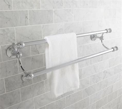 mercer double towel bar  chrome finish bathroom