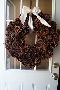 Making, Pine, Cone, Wreaths