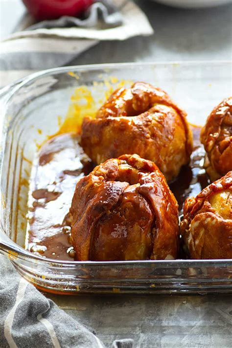 Apple Dumplings with Browned Butter Salted Caramel Sauce