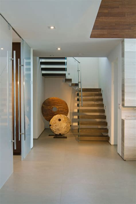 Entrance Hall, Art, Stairs, Stylish Interior Design In