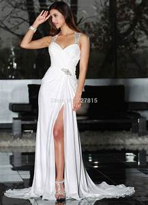 bohemian wedding dresses sexy high slit vestidos de novia With sexy wedding dresses