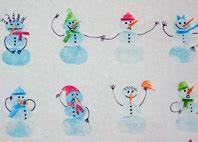 Basteln Im Januar : basteln im winter schneemann fingerstempel ytti ~ Articles-book.com Haus und Dekorationen