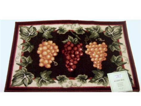 clusters of grapes grape themed kitchen rug