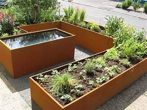 Hochbeet Aus Cortenstahl Die Besten 25 Garten Anlegen Ideen Auf
