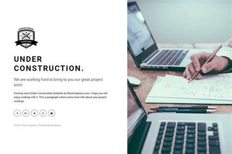 bootstrap html 5 template under construction bootstrap under construction free coming soon bootstrap