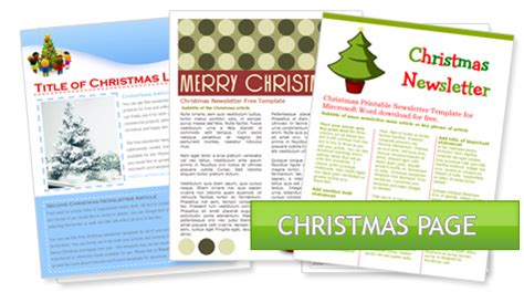 worddrawcom  holiday newsletter templates