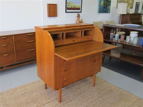 secretaire moderne bureau modern teak roll top bureau danishes