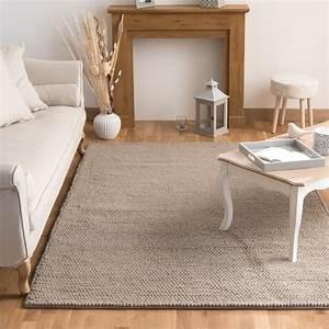 Tapis Beige Salon : tapis en laine beige 160 x 230 cm industry maisons du monde ~ Teatrodelosmanantiales.com Idées de Décoration