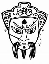Coloring Chinese Mask Ancient China Opera Ghost Pages Masks Dragon Drawing Faces Printables Tattoo Colouring Sheet Map Dragons Japanese Books sketch template