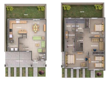PLANO DE CASA DE DOS PISOS Planos de casa de dos pisos