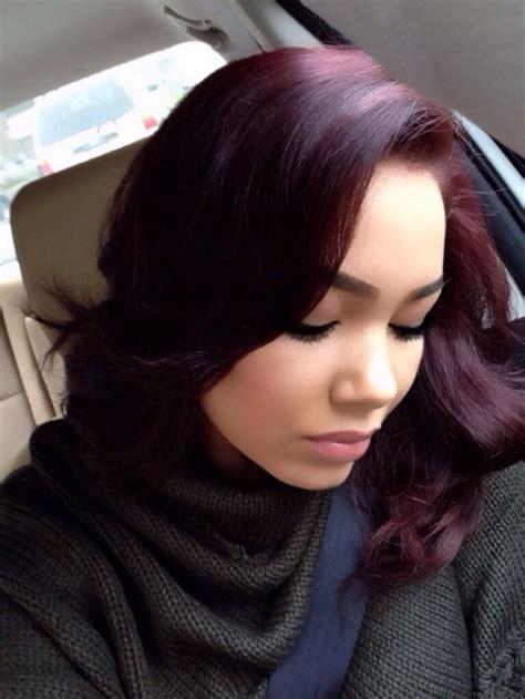 Black Hair Any Colour by Burgundy Hair Color On Brown Hair Hairstyles Hair
