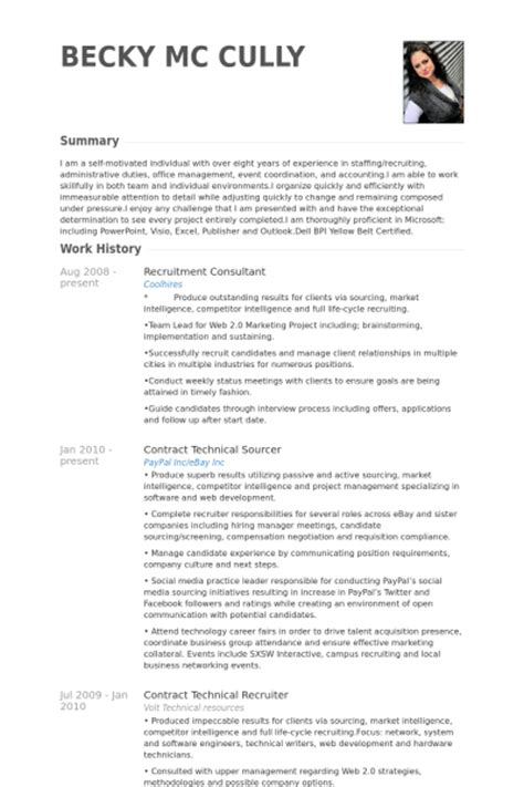 Recruitment Consultant Resume by Recruitment Consultant Resume Sles Visualcv Resume Sles Database