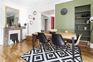 salle a manger contemporaine avec cheminee et tapis With salle À manger contemporaine avec tapis cuisine scandinave