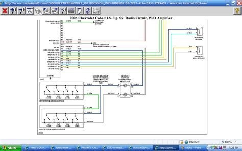 2006 Chevy Wiring Diagram by I Need A 2006 Chevy Cobalt Radio Wire Diagram How Do I Get