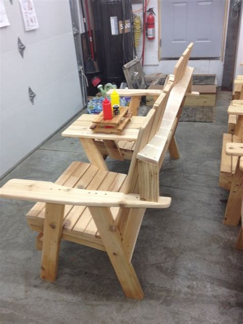 adirondack bench with table by jerry