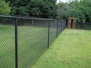 painting a chain link fence black bitdigest design With chain link fence paint colors