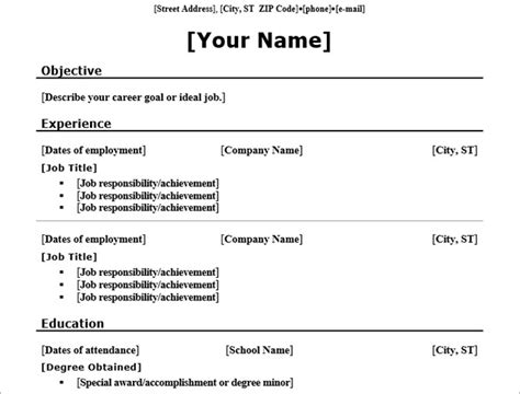 Chronological Resume Word Template by Tip Trick Here 20 Free Resume Templates For Word That Ll