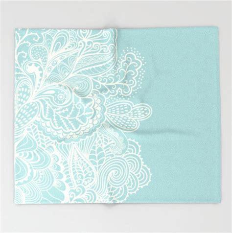 light blue throw blanket throw blanket light blue mehndi design pattern soft fleece 4