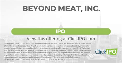 Beyond Meat, Inc. Ipo
