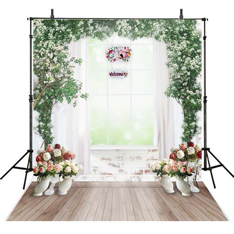 Floral Wedding Photography Backdrops Wall Vinyl Backdrop