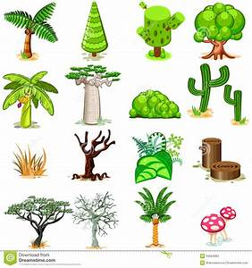 Tree Vector Illustration Collection Pack Stock Vector