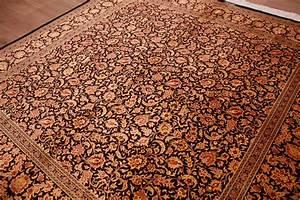 Teppich Schwarz Gold : perserteppich gom seidenteppich 200x200 cm ~ Whattoseeinmadrid.com Haus und Dekorationen