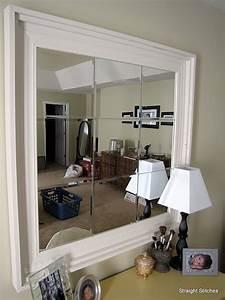 Crown molding around bathroom mirrors diy things i for Molding around mirror bathroom