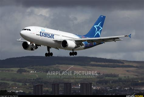 air transat uk contact c gtsh air transat airbus a310 at glasgow photo id 577715 airplane pictures net