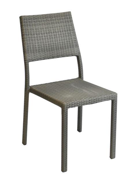 chaise de jardin en résine tressée chaise manon résine tressée gris proloisirs chaises résine tressée jardin concept