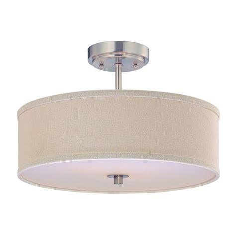 drum shade ceiling light semi flush ceiling light with cream drum shade 16 inches