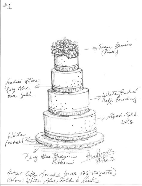 cake drawing template  getdrawingscom