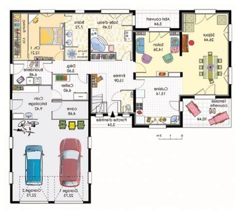 maison moderne plain pied 4 chambres plan maison plain pied 120m2 28 images plan maison