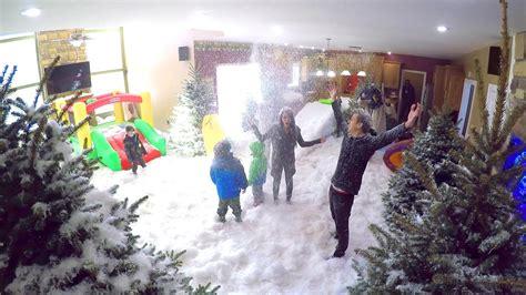 indoor snowstorm prank youtube