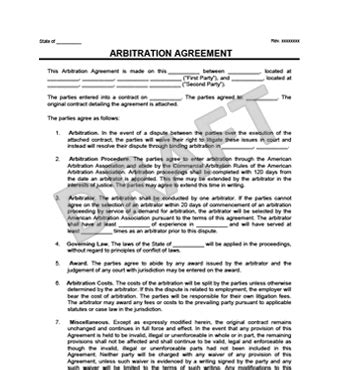 arbitration agreement sample gtld world congress