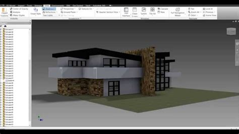 Autodesk Inventor Modern House Build  Youtube