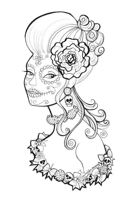 Free Day of the Dead Coloring Pages | Skull coloring pages