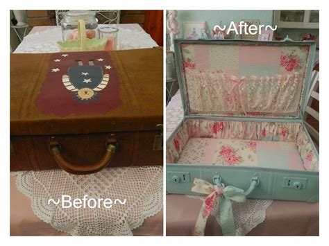 Shabby Suitcase Makeover