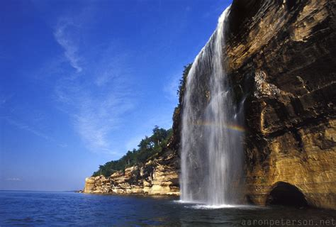 Wednesday Waterfall: Spray Falls, Pictured Rocks National ...