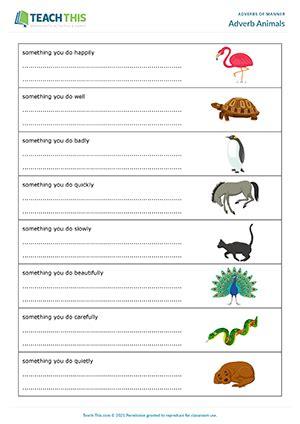 manner adverbs esl games activities worksheets